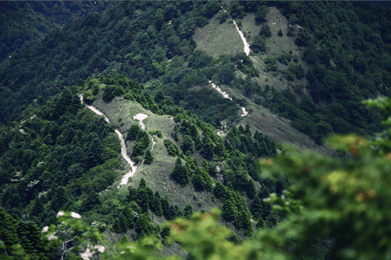 Long trails of the majestic Ishizuchi Mountain Range